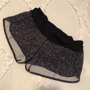 Lululemon Speckled Speed Up Shorts